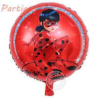 Фольгированный шар Леди Баг диаметр 45 см.