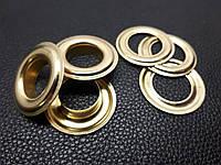Люверс металлический 17мм. Турция цвет золото