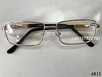 Очки в металлической оправе. Модель 6813 золото, фото 1