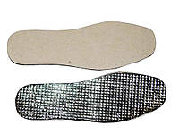Стельки войлочные белые с фольгой  46р. 10 пар