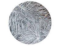 Мишура пушистая L=2,4 м d=100 мм серебристо-белая 5 шт
