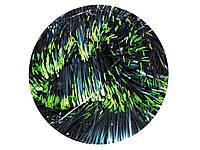Мишура пушистая L=2,4 м d=100 мм матово-зеленая с салатовым 5 шт