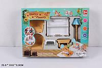 Животные флоксовые 012-08B Happy Family, гостинная с пианино, в короб.25*19*5см