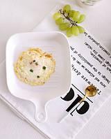 Сковорода квадратная керамическая NewYork, белая 16см