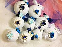 Новогодние шары ручной работы, набор из 9