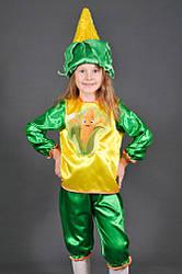 Детский карнавальный костюм КУКУРУЗА, КУКУРУЗКА на 3,4,5,6,7,8 лет маскарадные костюмы ОВОЩИ. 318