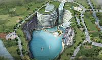 Пятизвёздочный отель в заброшенном карьере, китайцы опять удивили!