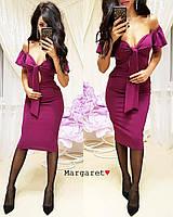 Женское красивое платье с карманами (4 цвета), фото 1