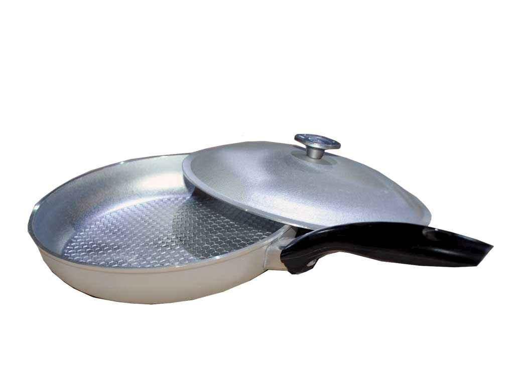 """Сковорода алюминиевая рифленая d=260 мм с крышкой """"Дако"""""""