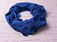 Палантин брендовый  Louis Vuitton катон  синий электрик
