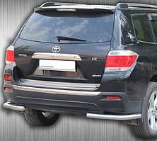 Защита заднего бампера Углы на Toyota Highlander (2007-2013)