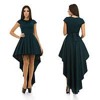 Вечернее платье со шлейфом и пышной юбкой с поясом и подъюбником в комплекте