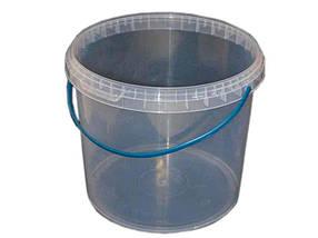 Ведро пластиковое с герметичной крышкой Свитпак 1 л прозрачное