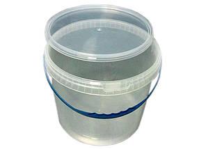 Ведро пластиковое с герметичной крышкой Свитпак 10 л прозрачное