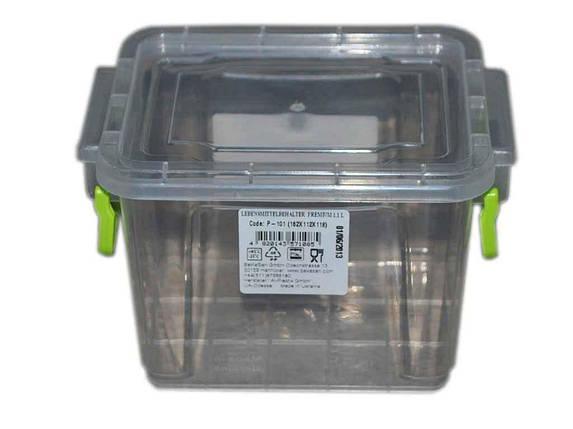Контейнер пл. 1,1л Premium №01 високий ТМ ALPLASTIK, фото 2