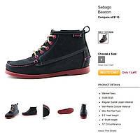 Ботинки премиум-класса, женские, непромокаемые, нубук и замш, полностью кожанные Sebago. США 36, 22.5