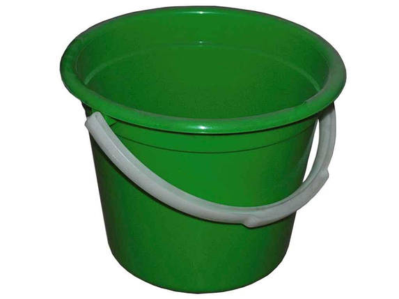 Ведро пластиковое пищевое Консенсус 8 л зеленое, фото 2