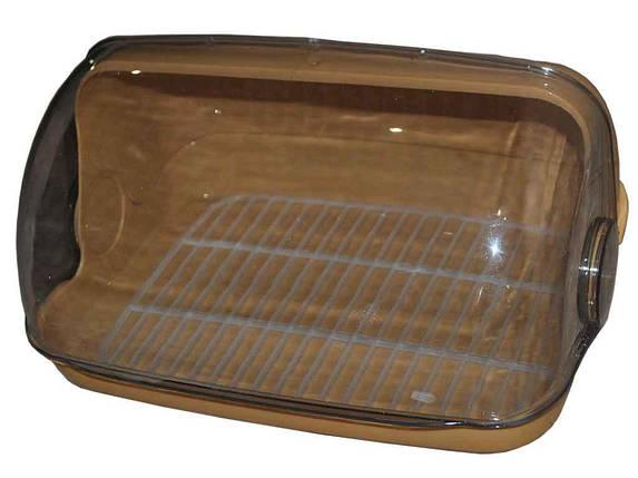 Хлібниця пластикова маленька 330*255*175мм бежева ТМ КОНСЕНСУС, фото 2