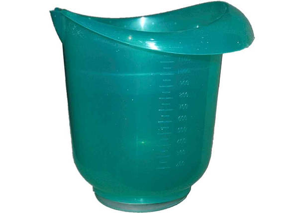 Стакан для міксеру 150*160мм прозорий зелений ТМ КОНСЕНСУС, фото 2