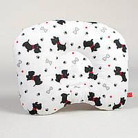 Ортопедическая подушка для новорожденных BabySoon Веселые собачки 22 х 26 см (180)