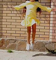 Платье на девочку Оборки-Креп (93)