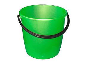 Ведро пластиковое пищевое Мед 8 л зеленое