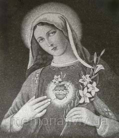 Художнє оформлення пам'ятників,зображення Святих,Непорочне Серце Марії,