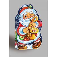 """Подарочная новогодняя упаковка """"Дед Мороз"""". Цена за упаковку. В упаковке 10 шт.,10*19*7*5 см., на вес 600г."""