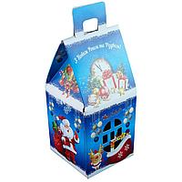 """Подарочная новогодняя упаковка """"Домик"""". Цена за упаковку. В упаковке 10 шт., 9,6*9,6*19,5 см"""