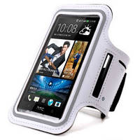 Армбенд, спортивный чехол Iphone 4 4S, белый