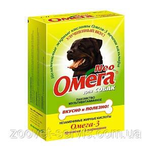 Мультивитаминное лакомство «Омега Neo» для собак с протеином и L-карнитином, фото 2
