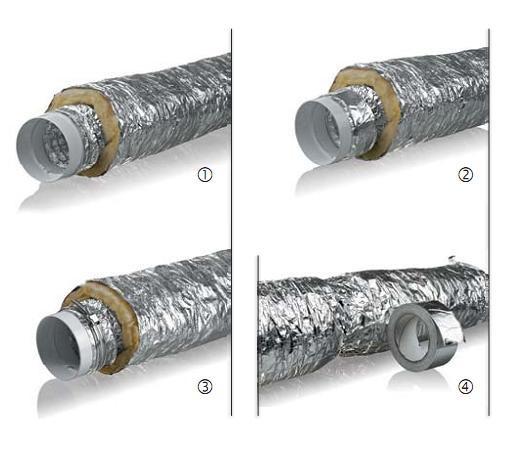 Воздуховод гибкий изолированный - теплый ММПУ 100мм