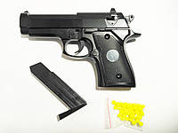 Іграшковий залізний пістолет, zm21 на пульках, дитяча пневматика, фото 1