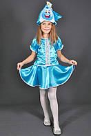 Детский карнавальный костюм КАПЕЛЬКА, ДОЖДИК, ЛЬДИНКА на 3,4,5,6 лет маскарадный костюм КАПЕЛЬКИ, ДОЖДИКА