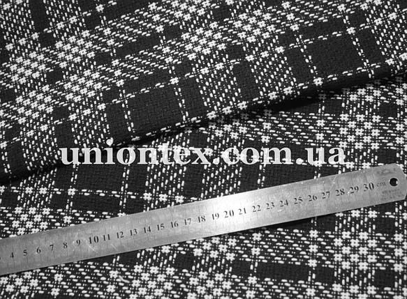 Пальтовая ткань клетка на флизелине (Турция, 40% шерсть), фото 2