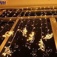 Штора 1.5х1.5м 320 led, цвет тепло-белый - декоративная гирлянда на Новый год