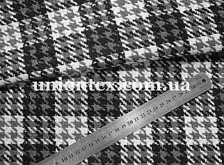 Пальтовая ткань клетка на флизелине (Турция, 40% шерсть)