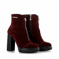 Женские зимние ботинки на высоком каблуке модель 7246.4