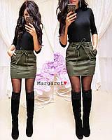 Женская красивая юбка с поясом (3 цвета), фото 1