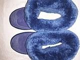 Угги синие с серебром, натуральная овчина, фото 5
