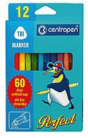 Фломастеры 12 цветов Perfect 60 дней Centropen