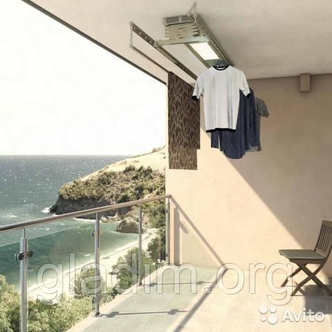 Сушилка для белья на балкон потолочная автоматизированная M08-1504DXFHP.