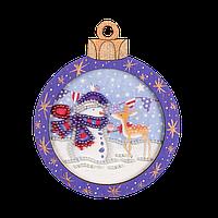 Вышивка Бисером Елочная игрушка для вышивания бисером (фанера) FLE-008 Волшебная страна Украина