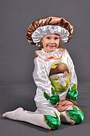 Детский карнавальный костюм ГРИБ, ГРИБОЧЕК на 3,4,5,6,7 лет маскарадный новогодний костюм БЕЛОГО ГРИБА