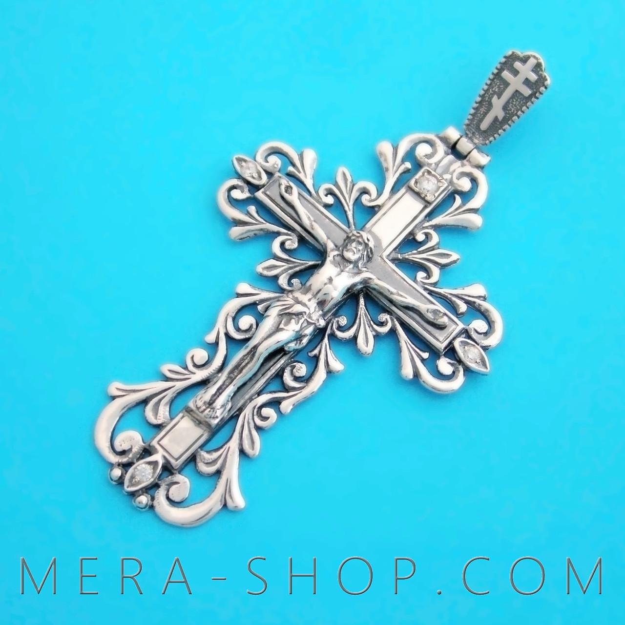 Мужской нательный крест из серебра 925 пробы