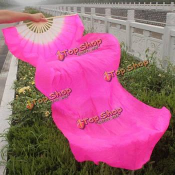 Веер вейл для танца живота с длинной тканью 1.8м розовый