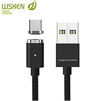 Магнитный кабель WSKEN MINI2 USB Type C чёрный, фото 1