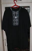 Сорочка мужская цвет черный, домотканное полотно, сорочкамашинной вышивки от изготовителя модель ВВ01.