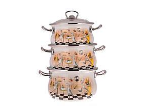 Набор эмалированной посуды 3 предмета  №1000 Гурманика EPOS