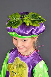 Детский карнавальный костюм ВИНОГРАД на 3,4,5,6,7,8 лет маскарадный костюм ВИНОГРАДА на праздник осени. 318